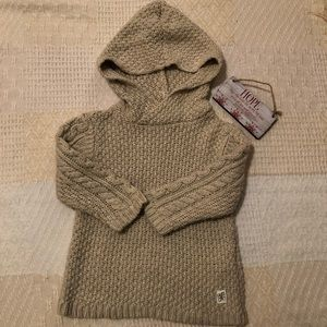 Zara Knitwear Hooded Sweater